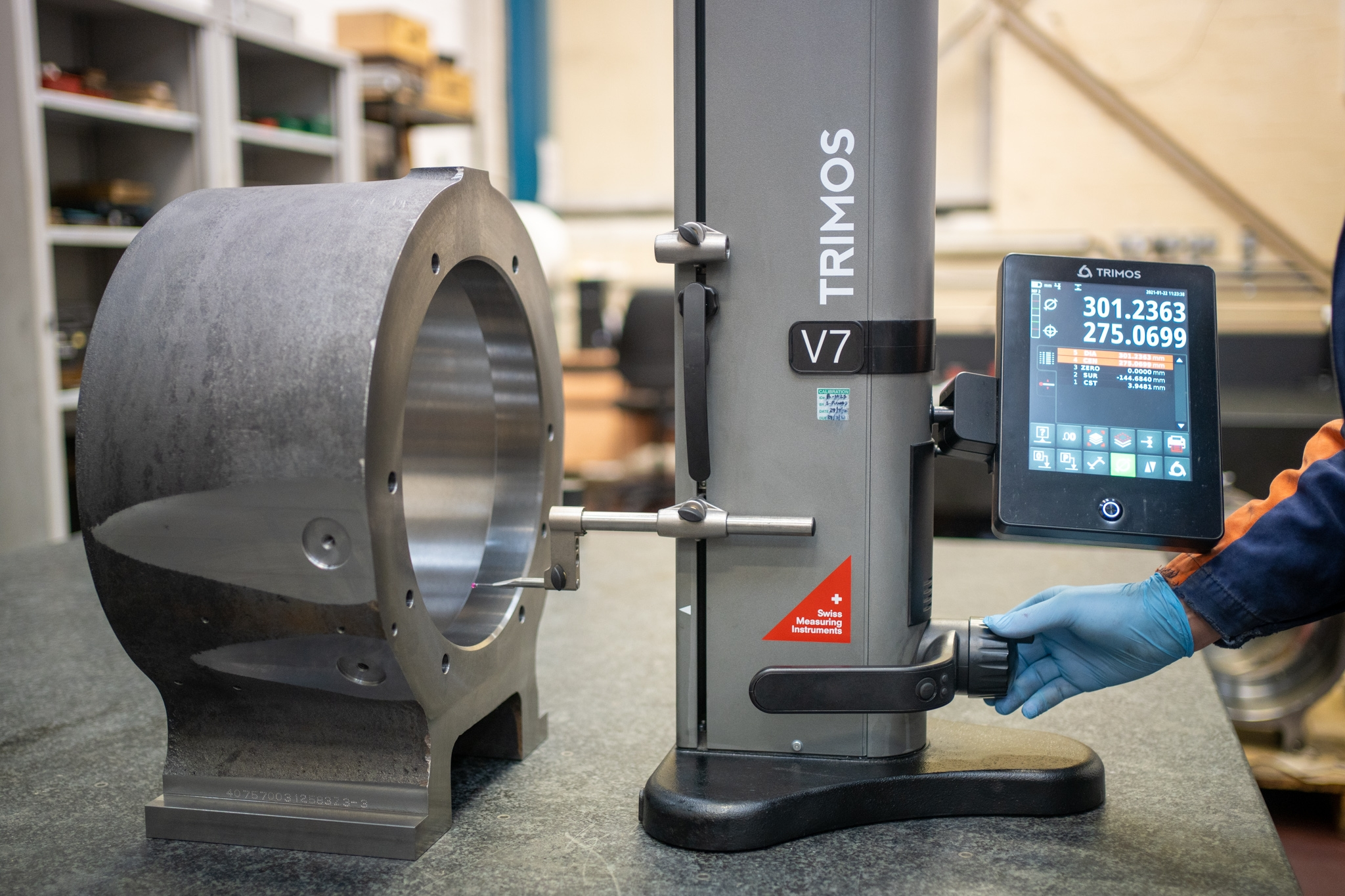 February 2021: Chelburn Precision Improves Measuring Efficiencies with Trimos V7 Height Gauge