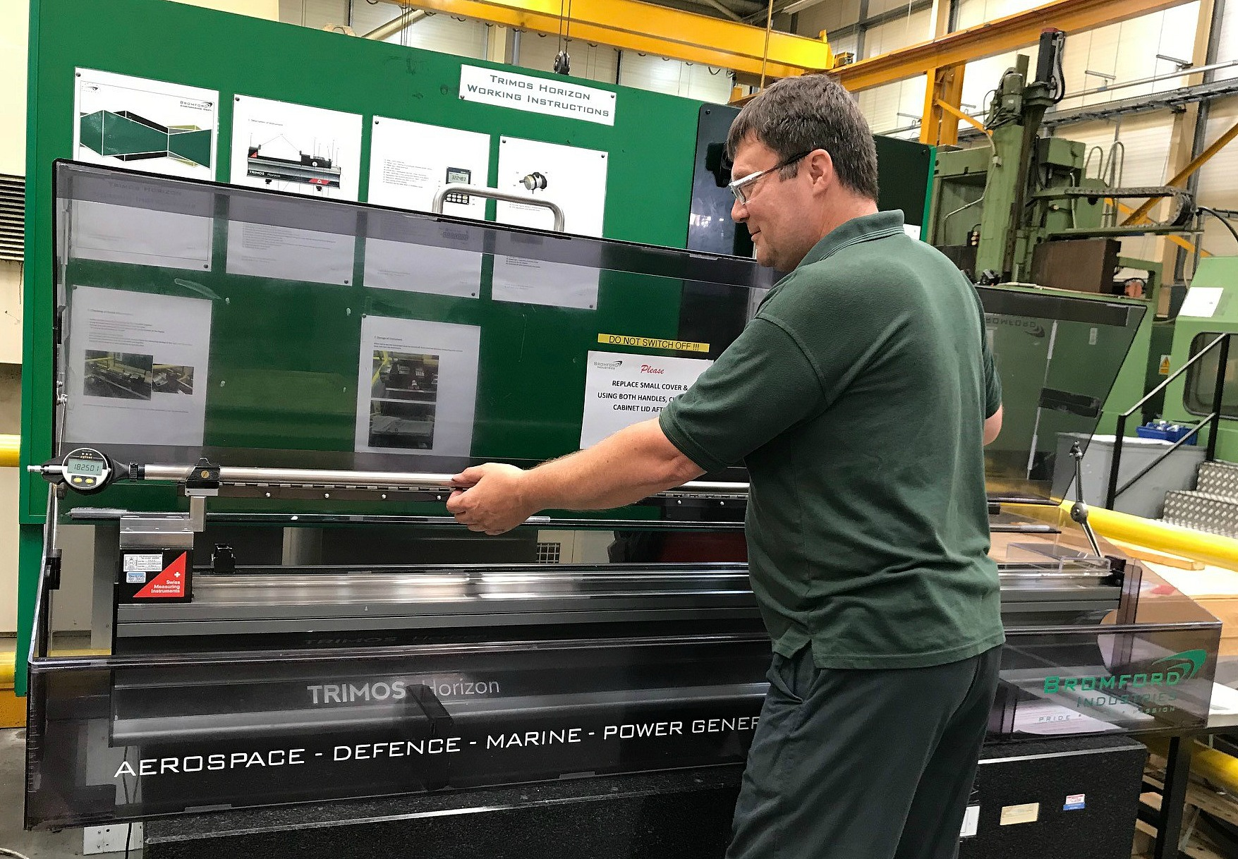 August 2018: Tight Tolerances on Performance Critical Components Met with Trimos Length Measuring Machine